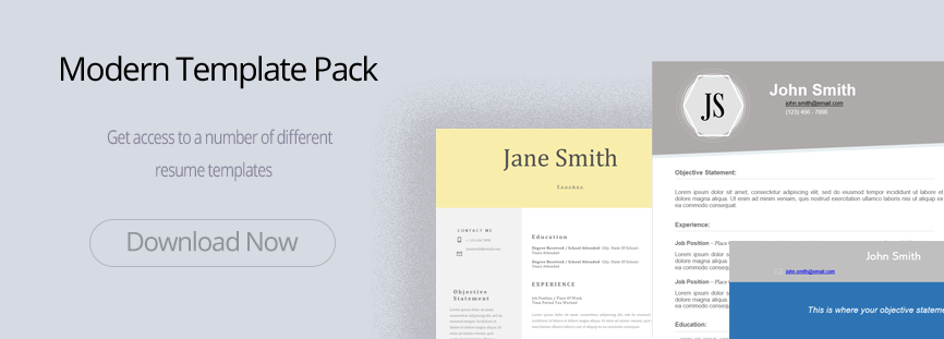 Modern Resume Template Pack New
